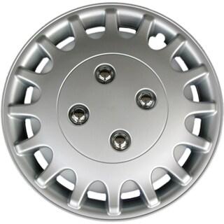 Design KT101813S-L ABS Silver 13-inch Hub Cap (Set of 4)