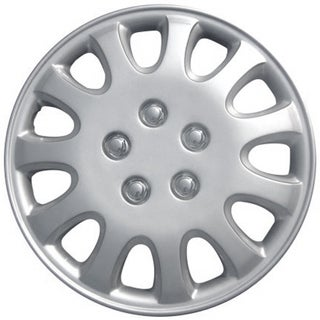 Design KT84214S_L ABS Silver 14-inch Hub Caps (Set of 4)