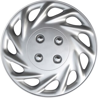 Silver 13-inch ABS Hub Caps (Set of 4)