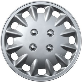 Design KT86014S_L ABS Silver 14-inch Hub Caps (Set of 4)