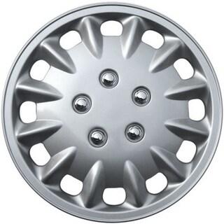 Design Silver ABS Silver 15-Inch Premium Hub Caps (Set of Four)