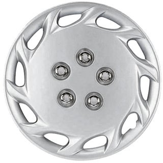 Design Silver ABS Silver 14-Inch Hub Caps (Set of 4)