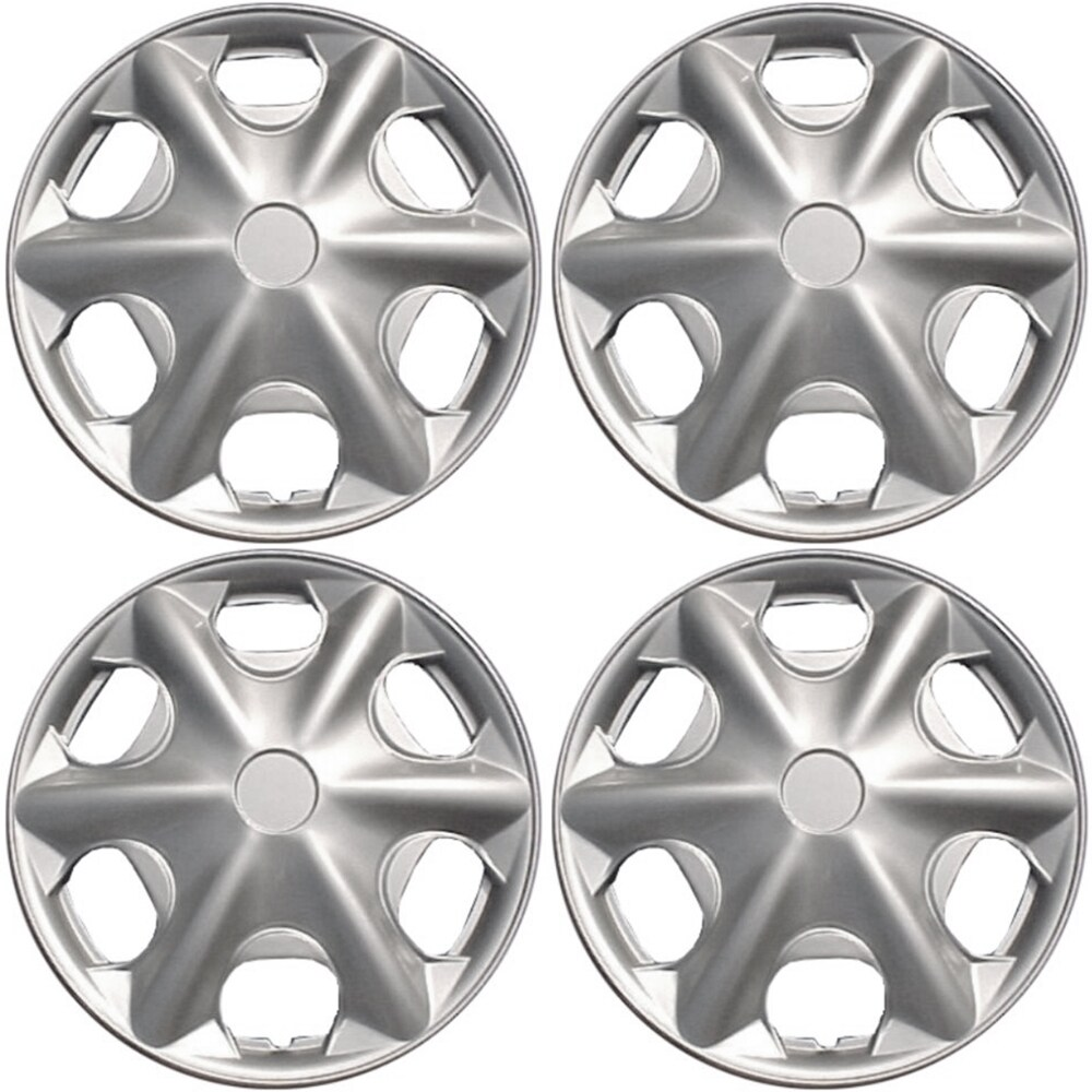 Kata Design Silver ABS 15-Inch Premium Hub Caps (Set of 4...