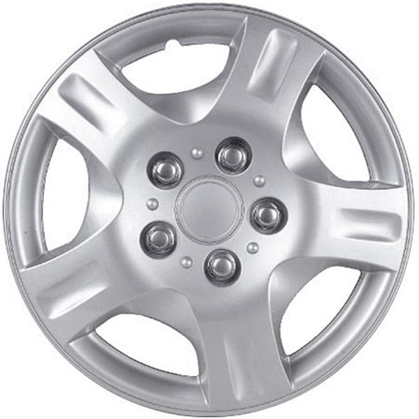 Design Silver ABS 15-Inch Hub Caps for Nissan Altima (Set of 4)