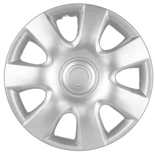 Design ABS Silver Plastic 15-Inch Hub Caps (Pack of 4)