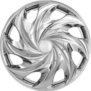 Design ABS Plastic Chrome 15-Inch Hub Caps (Pack of Four)