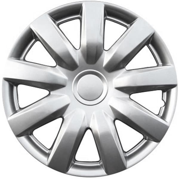 Design Silver ABS Universal 15-Inch Hub Caps (Set of 4)