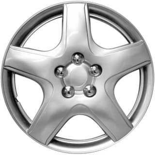 Design Silver ABS 15-Inch Hub Caps for Toyota (Set of 4)
