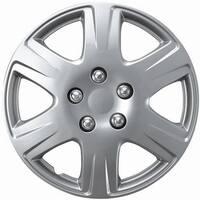 Design Silver ABS Plastic 15-Inch Premium Hub Caps (Set of 4)