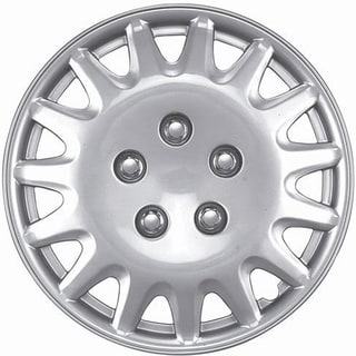 Design Silver Universal ABS 15-Inch Hub Caps (Set of 4)