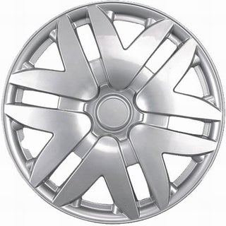 Six Split Spoke Design Silver ABS 14-Inch Hub Caps (Set of 4)