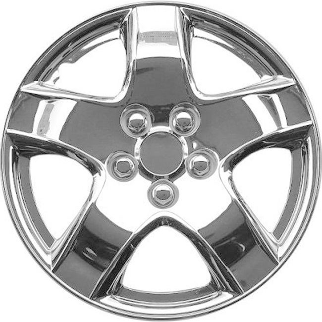 Matrix Design Silver ABS Chrome-like 15-Inch Hub Caps (Se...