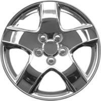 Design Silver ABS Chrome-like 15-Inch Hub Caps (Set of 4)