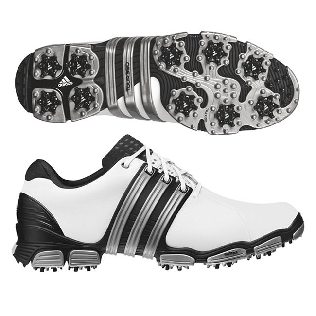 3828ac0bd3e Shop Adidas Men s Tour 360 4.0 White  Black  Silver Golf Shoes ...