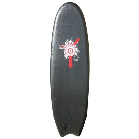 Atom Black 6-foot Soft Top Surfboard