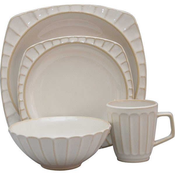 Sango Society White 16-piece Dinnerware Set