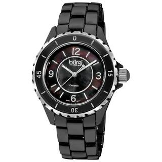 Burgi Women's Black Ceramic Quartz Bracelet Watch with FREE GIFT|https://ak1.ostkcdn.com/images/products/6421478/Burgi-Womens-Black-Ceramic-Quartz-Bracelet-Watch-P14027461.jpg?impolicy=medium