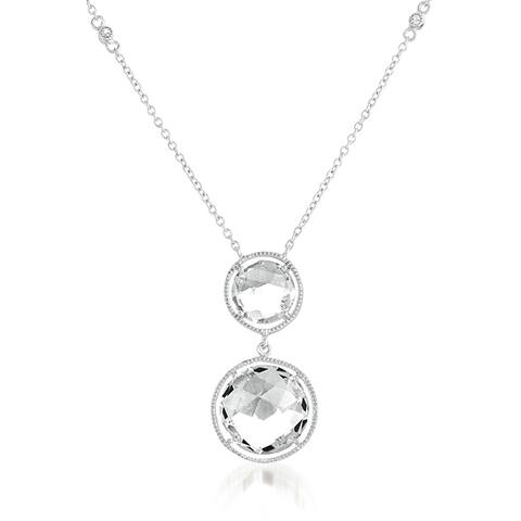 Collette Z Sterling Silver White Quartz Yard Necklace