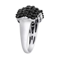 Sterling Silver 2ct TDW Black Diamond Cocktail Ring - Thumbnail 1