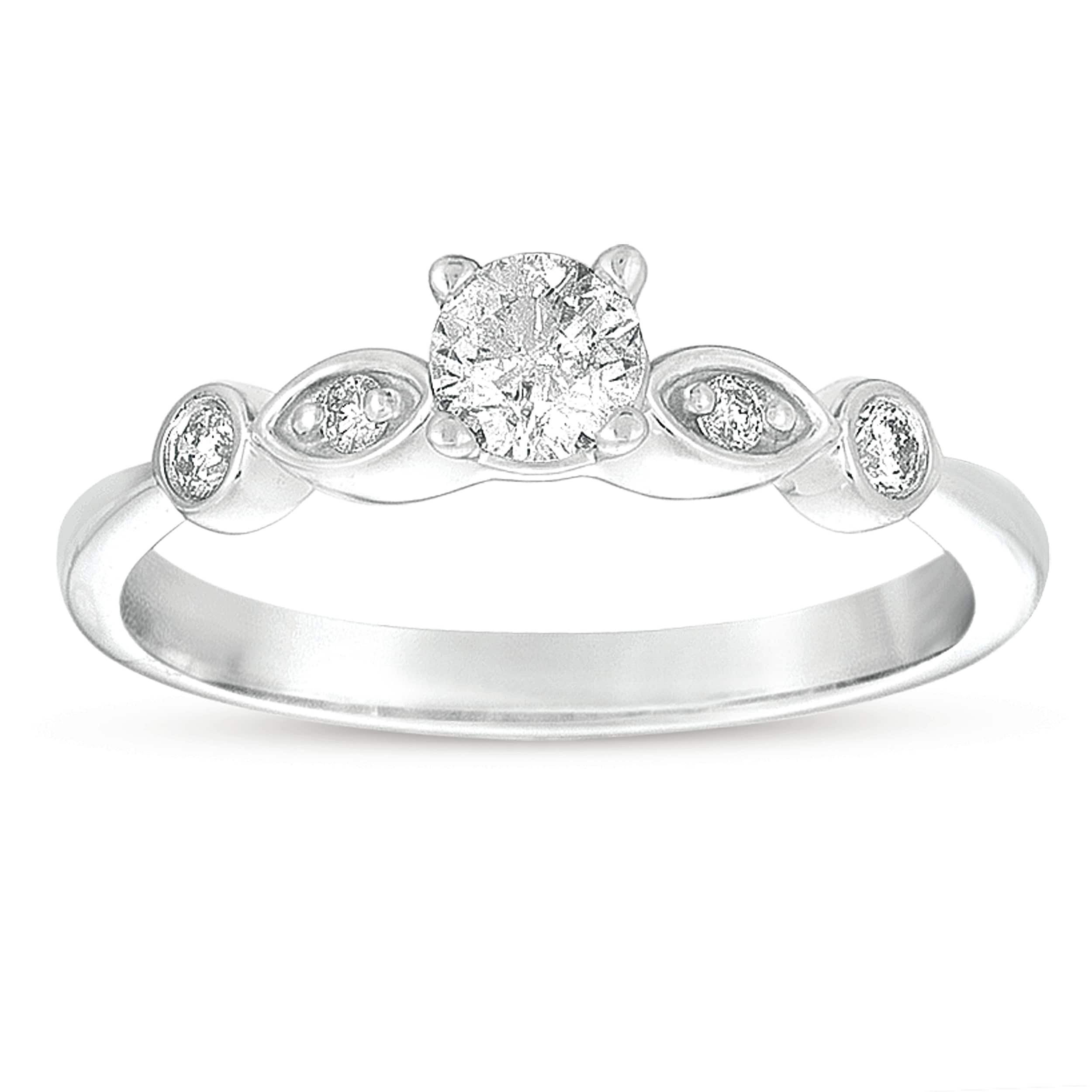 14k White Gold 3/8ct TDW Diamond Promise Ring (G-I, I1-I2)