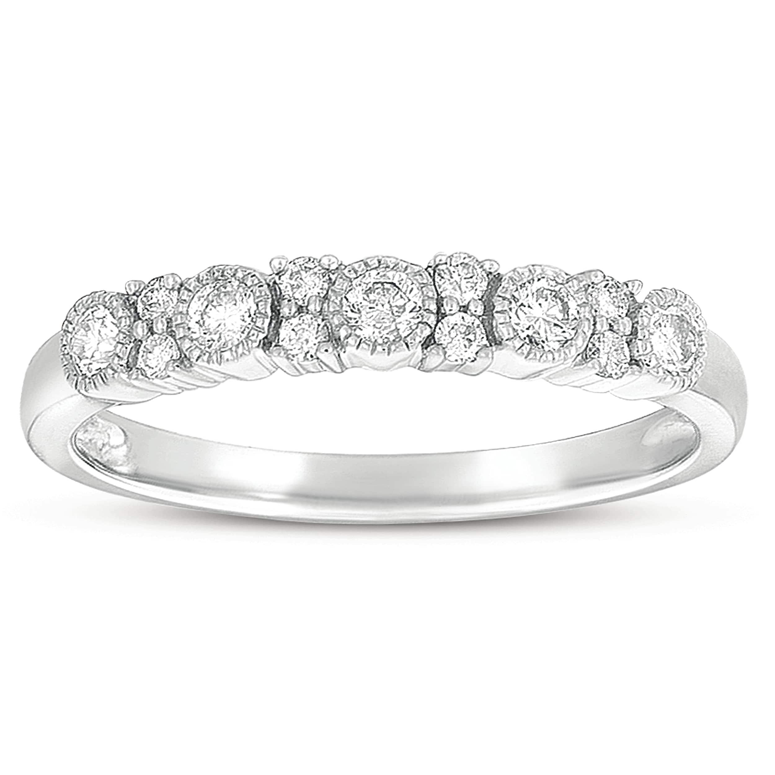 Eloquence 10k White Gold 3/8ct TDW Diamond Ring (G-I, I1-I2)