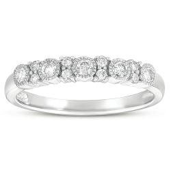 Eloquence 10k White Gold 3/8ct TDW Diamond Ring (G-I, I1-I2)