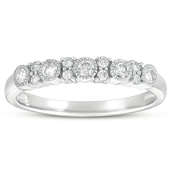 Eloquence 10k White Gold 3/8ct TDW Diamond Ring