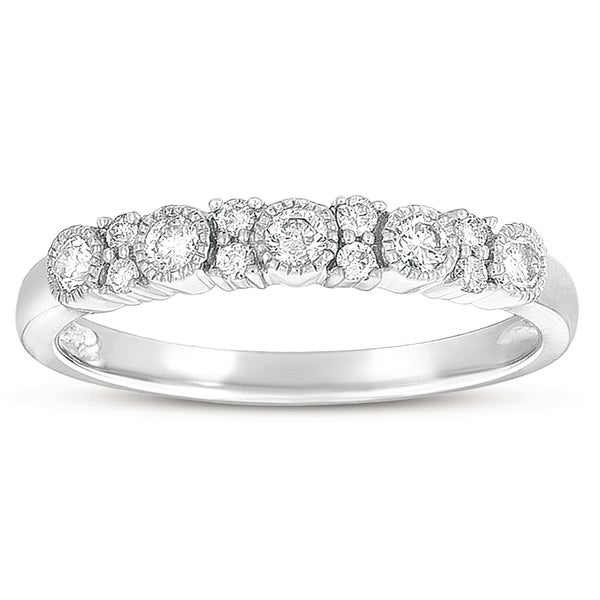 Eloquence 10k White Gold 3/8ct TDW Diamond Ring