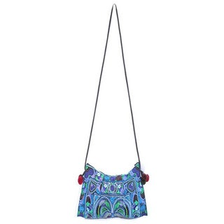 Handmade Cotton Leyla 'Bluest Blue' Purse (Thailand)