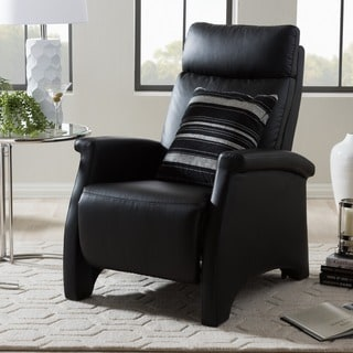 'Sequim' Black Reclining Club Chair