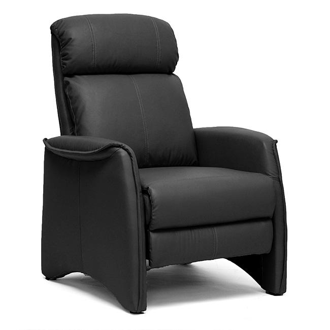 'Aberfeld' Black Reclining Club Chair