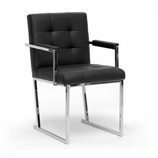 'Collins' Black Mid-Century Accent Chair