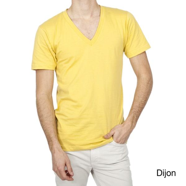 American Apparel Organic Fine Jersey Short Sleeve V-neck Shirt