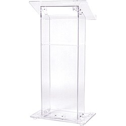 Oklahoma Sound Corporation Acrylic Lectern with Shelf