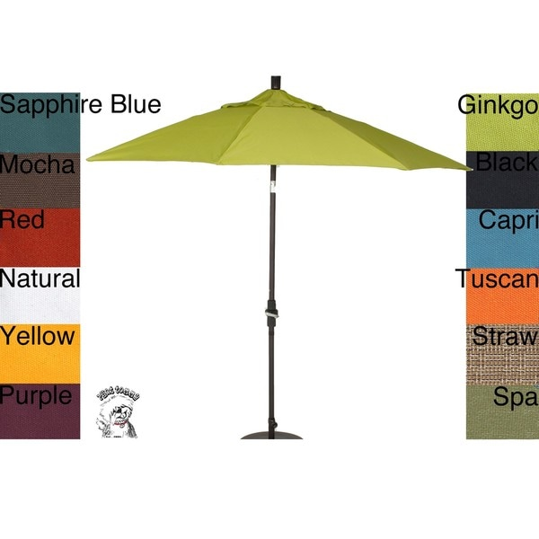 PHAT TOMMY 9 Foot Pacifica Fabric Aluminum Market Patio Umbrella