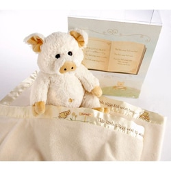 Baby Aspen 'Pig in a Blanket' 2-Piece Gift Set - Thumbnail 1