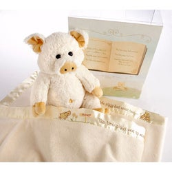Baby Aspen 'Pig in a Blanket' 2-Piece Gift Set