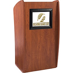 Oklahoma Sound Corporation 'The Vision' Floor Lectern with Digital Display