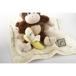Baby Aspen Five Little Monkeys 5-Piece Gift Set in Basket - Thumbnail 2