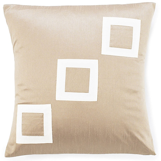 Three Squares Brown Decorative Pillow - Thumbnail 0