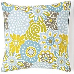 Bloom Sky 20x20-inch Cotton Decorative Pillow