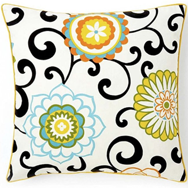 'Ply Confetti' 20-inch Square Cotton Decorative Pillow - Thumbnail 0