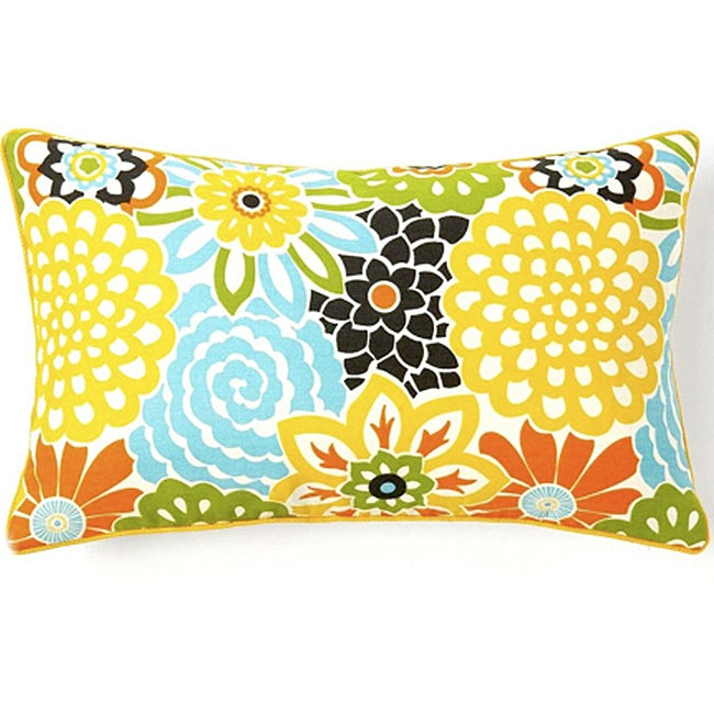 Jiti Bloom Confetti 12 x 20-inch Cotton Decorative Down Pillow - Thumbnail 0