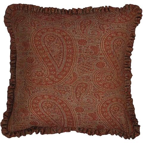 Wool 'Jamawar' Paisley Throw Pillow