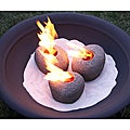 Real Flame Fire Rocks
