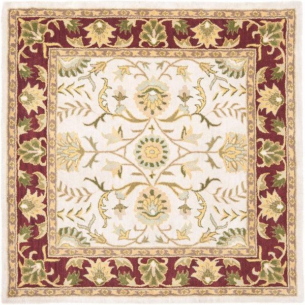 Safavieh Handmade Heritage Timeless Traditional Beige/ Red Wool Rug (6' Square)