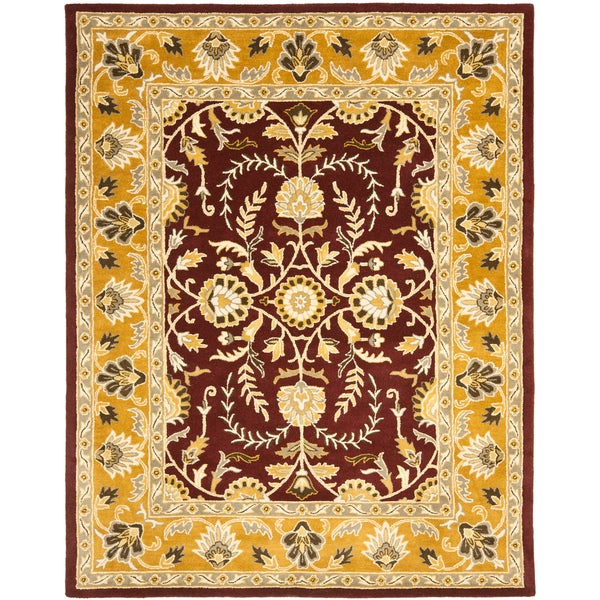 Safavieh Handmade Heritage Timeless Traditional Red/ Gold Wool Rug (6' x 9')