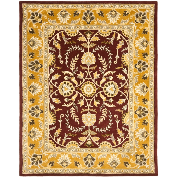 Safavieh Handmade Heritage Timeless Traditional Red/ Gold Wool Rug - 7'6 x 9'6