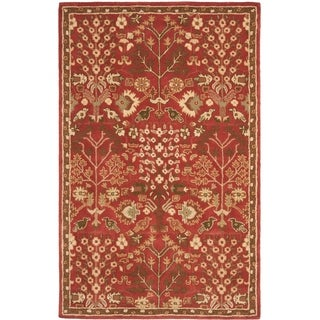 Safavieh Handmade Heritage Timeless Traditional Red Wool Rug (4' x 6')