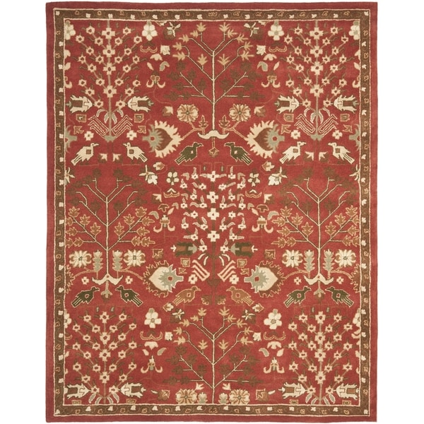 Safavieh Handmade Heritage Timeless Traditional Red Wool Rug (7'6 x 9'6)